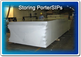 PorterSIPs are shrink wrapped for weather protection